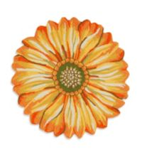 Trans-Ocean Frontporch Sunflower 60-Inch Round Door Mat