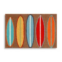 Trans-Ocean 30-Inch x 48-Inch Frontporch Surfboards Door Mat