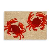 Trans-Ocean 24-Inch x 36-Inch Frontporch Crabs Door Mat in Red