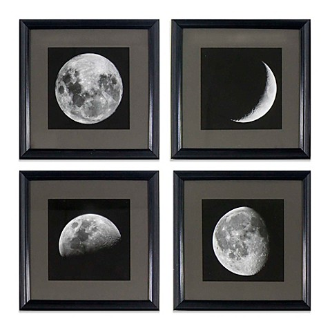buy moon phases wall art set of 4 from bed bath beyond. Black Bedroom Furniture Sets. Home Design Ideas