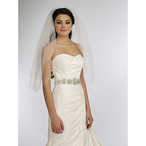 Two Tier Rolled Edge Veil In White Bed Bath Beyond