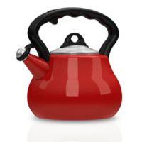 Remedy® Lovely Lady 2-Quart Porcelain Enamel Tea Kettle in Red