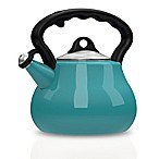 Remedy® Lovely Lady 2-Quart Porcelain Enamel Tea Kettle in Blue