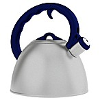 Remedy® Metro 1.5-Quart Brushed Stainless Steel Tea Kettle with Purple Handle