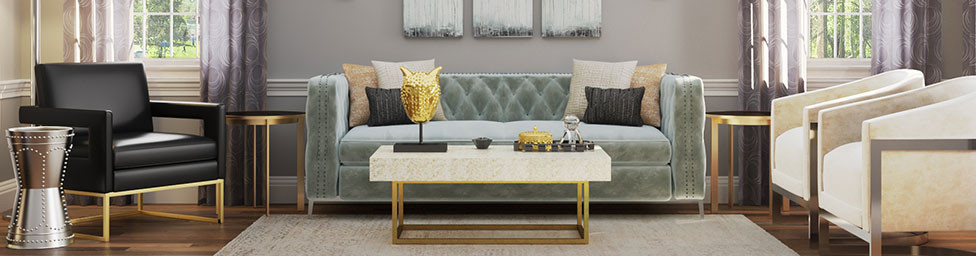GLam Modern Elegance Living Room Furniture With Hints Of Glam And Eclectic  Accents. Shop Now