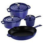 Staub Enameled Cast Iron Cookware in Dark Blue