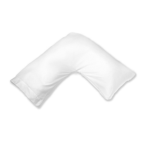 Boomerang Multi Position Pillow Cover in White