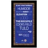 Steiner MLB Colorado Rockies Framed Wall Art 9.5-Inch x 19-Inch Subway Sign