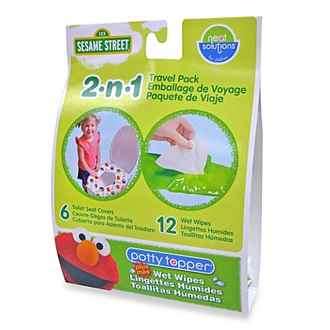 Hamco Neat Solutions Sesame Street Potty Toppers Wet Wipes