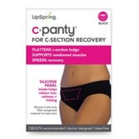 Upspring C-Panty Large/Extra Large Classic Waist C-Section Recovery Panty in Black
