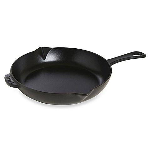 Buy Staub Cast Iron 10 Inch Fry Pan In Dark Blue From Bed