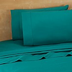 220-Thread-Count 100% Cotton Standard Pillowcases in Teal (Set of 2)