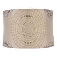 Mix Match Medium 14 Inch Metallic Geometric Softback Lamp Shade In Silver