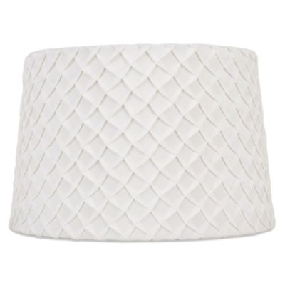 Buy large lamp shades from bed bath beyond mix match large 15 inch hardback scale lamp shade in white aloadofball Choice Image
