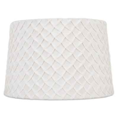 Mix & Match Large 15-Inch Hardback Scale Lamp Shade in White