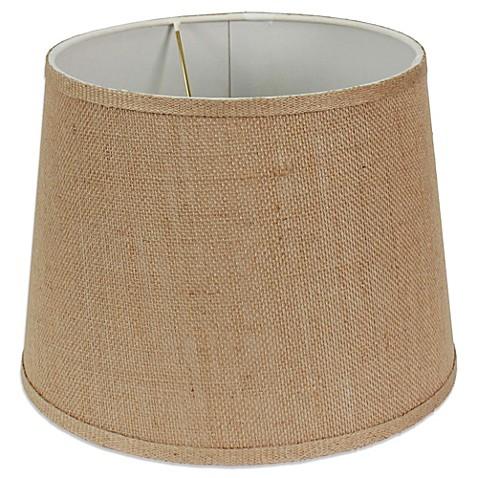 Mix Amp Match Medium 12 Inch Burlap Drum Lamp Shade In Brown