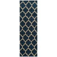 Dimensions 2-Foot 3-Inch x 7-Foot 6-Inch Hook Rug in Navy