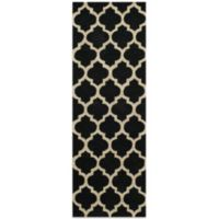 Dimensions 2-Foot 3-Inch x 7-Foot 6-Inch Hook Rug in Black