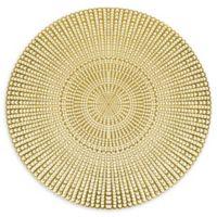 Herringbone Pressed Vinyl Placemat in Gold