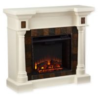 Southern Enterprises Carrington Convertible Electric Fireplace in Ivory