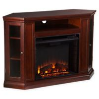 Southern Enterprises Claremont Convertible Media Fireplace in Cherry