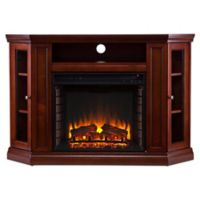 Southern Enterprises Claremont Convertible Media Fireplace in Mahogany