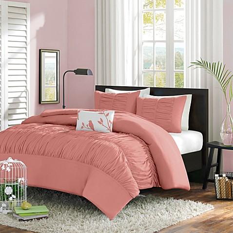 mirimar comforter set in peach bed bath beyond. Black Bedroom Furniture Sets. Home Design Ideas