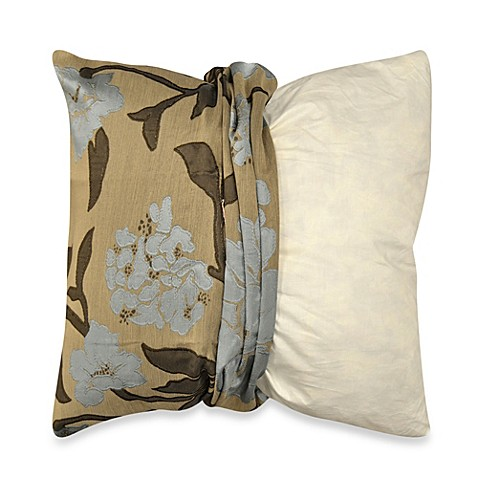 Throw Pillow Covers Bed Bath Beyond : MYOP Gardenia Square Throw Pillow Cover in Blue - Bed Bath & Beyond