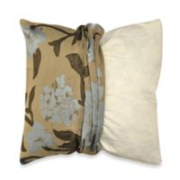 MYOP Gardenia Square Throw Pillow Cover in Blue