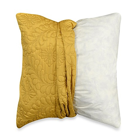 MYOP Pucker Quilt Square Throw Pillow Cover in Sunflower - Bed Bath & Beyond