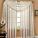 Linen Sheer 84-Inch Pocket Window Panel in Ivory
