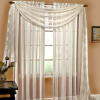 Linen Sheer 63-Inch Pocket Window Panel in Ivory