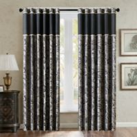 Aubrey 84-Inch Window Curtain Panel in Black