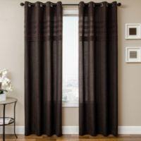 Softline Robin 84-Inch Window Curtain Panel in Chocolate