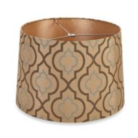 Mix & Match Medium 15-Inch Two-Tone Screen-Printed Table Lamp Shade in Light Brown
