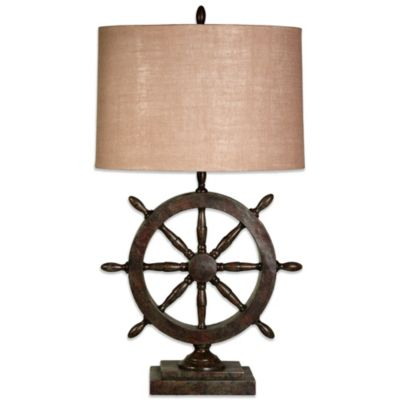 buy coastal nautical table lamps from bed bath beyond. Black Bedroom Furniture Sets. Home Design Ideas