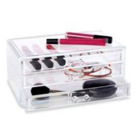 Clear 3-Drawer Cosmetic Organizer