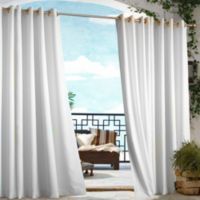 Commonwealth Home Fashions 84-Inch Gazebo Outdoor Curtain in White