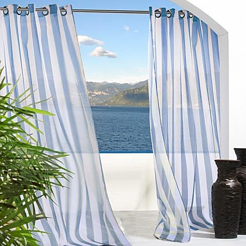 Escape Stripe Grommet Window Curtain Panel Bed Bath Amp Beyond