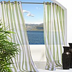 Escape Stripe Grommet 96-Inch Window Curtain Panel in Green