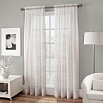 Crushed Voile Sheer 84-Inch Rod Pocket Window Curtain Panel in White
