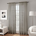 Crushed Voile Sheer 63-Inch Rod Pocket Window Curtain Panel in Grey