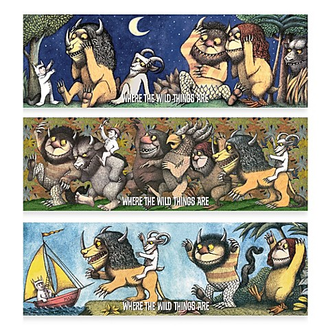 Where the Wild Things Are 36-Inch x 12-Inch Wall Art - Bed Bath & Beyond