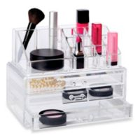 Deluxe 2-Piece 3 Drawer Cosmetic Organizer Set