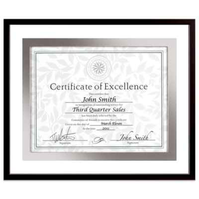 Upper West Side 8.5-Inch x 11-Inch Document Float Frame in Black/Silver