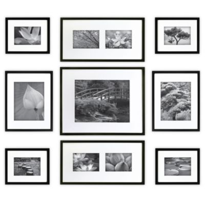 gallery perfect 9 piece matted wall frame kit