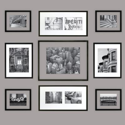 gallery perfect 9 piece matted and float frame kit