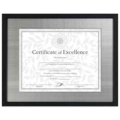 Matted 8.5-Inch x 11-Inch Document Frame in Black/Silver