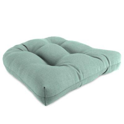 18inch wicker chair cushion in husk texture mist