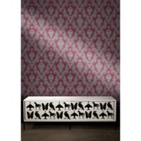 Tempaper® Double Roll Removable Wallpaper in Damsel Silver Plum
